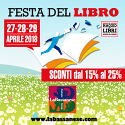 Festa del Libro 2018 sconti dal 15 al 25% solo 27-28-29 APRILE.