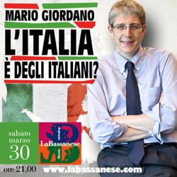 L`Italia è degli italiani? Con Mario Giordano, giornalista e conduttore tv.