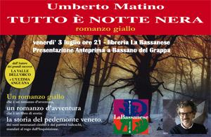 Umberto Matino e il nuovo giallo alla Bassanese. Presentazione all`aperto.
