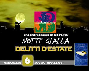 """La notte gialla. Una serata """"in giallo"""" con lo scrittore Fulvio Ervas."""
